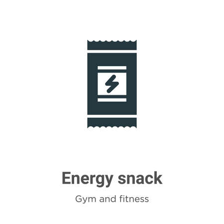 Energy snack glyph icon vector on white background. Flat vector energy snack icon symbol sign from modern gym and fitness collection for mobile concept and web apps design.