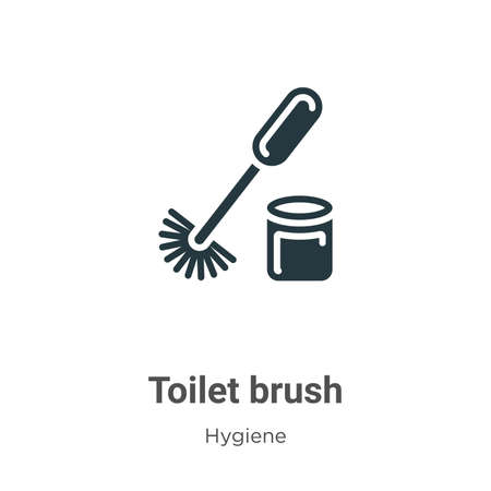 Toilet brush glyph icon vector on white background. Flat vector toilet brush icon symbol sign from modern hygiene collection for mobile concept and web apps design.