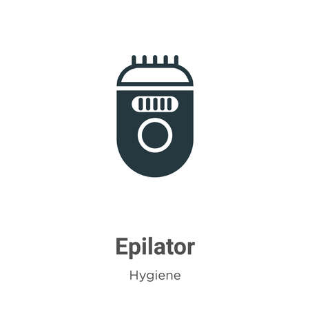 Epilator glyph icon vector on white background. Flat vector epilator icon symbol sign from modern hygiene collection for mobile concept and web apps design.