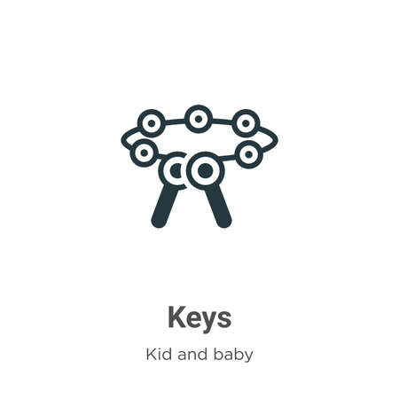 Keys glyph icon vector on white background. Flat vector keys icon symbol sign from modern kid and baby collection for mobile concept and web apps design.
