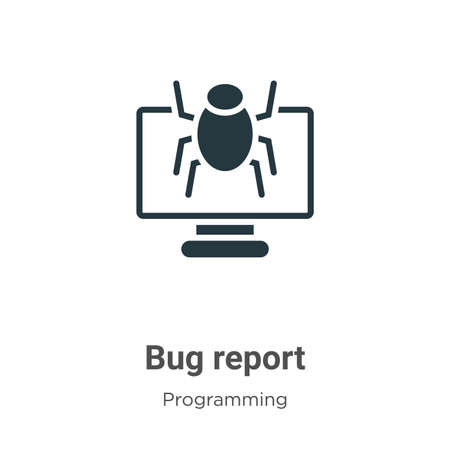 Bug report glyph icon vector on white background. Flat vector bug report icon symbol sign from modern programming collection for mobile concept and web apps design.