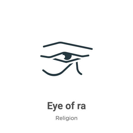 Eye of ra glyph icon vector on white background. Flat vector eye of ra icon symbol sign from modern religion collection for mobile concept and web apps design.