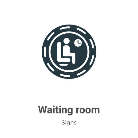 Waiting room glyph icon vector on white background. Flat vector waiting room icon symbol sign from modern signs collection for mobile concept and web apps design.