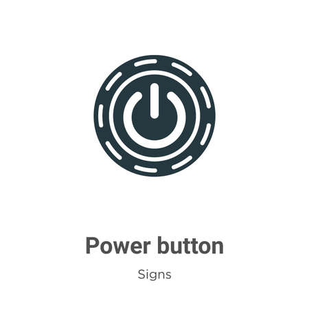 Power button glyph icon vector on white background. Flat vector power button icon symbol sign from modern signs collection for mobile concept and web apps design.