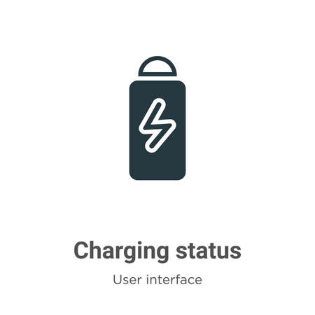 Charging status glyph icon vector on white background. Flat vector charging status icon symbol sign from modern user interface collection for mobile concept and web apps design.