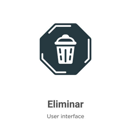 Eliminar glyph icon vector on white background. Flat vector eliminar icon symbol sign from modern user interface collection for mobile concept and web apps design.