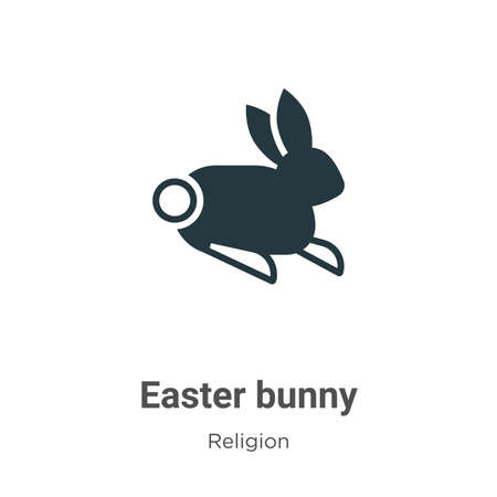 Easter bunny glyph icon vector on white background. Flat vector easter bunny icon symbol sign from modern religion collection for mobile concept and web apps design. Stock Illustratie