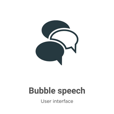 Bubble speech glyph icon vector on white background. Flat vector bubble speech icon symbol sign from modern user interface collection for mobile concept and web apps design.