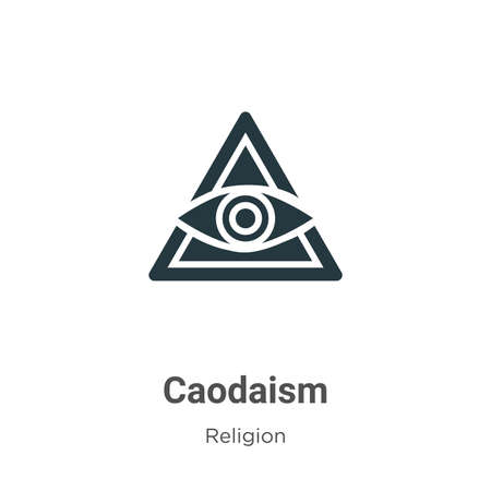 Caodaism glyph icon vector on white background. Flat vector caodaism icon symbol sign from modern religion collection for mobile concept and web apps design.