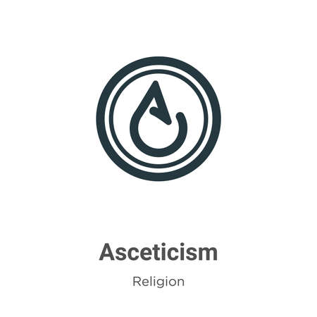 Asceticism glyph icon vector on white background. Flat vector asceticism icon symbol sign from modern religion collection for mobile concept and web apps design.