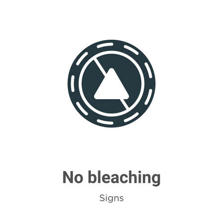 No bleaching glyph icon vector on white background. Flat vector no bleaching icon symbol sign from modern signs collection for mobile concept and web apps design. Ilustração