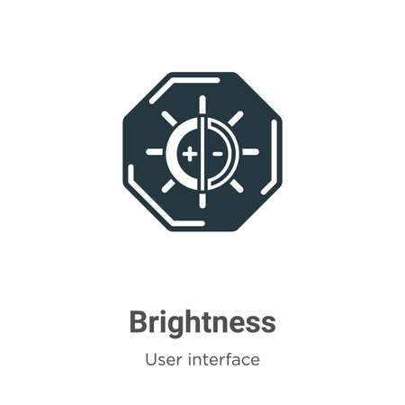Brightness glyph icon vector on white background. Flat vector brightness icon symbol sign from modern user interface collection for mobile concept and web apps design.