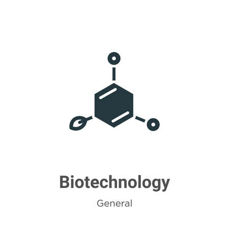 Biotechnology glyph icon vector on white background. Flat vector biotechnology icon symbol sign from modern general collection for mobile concept and web apps design.