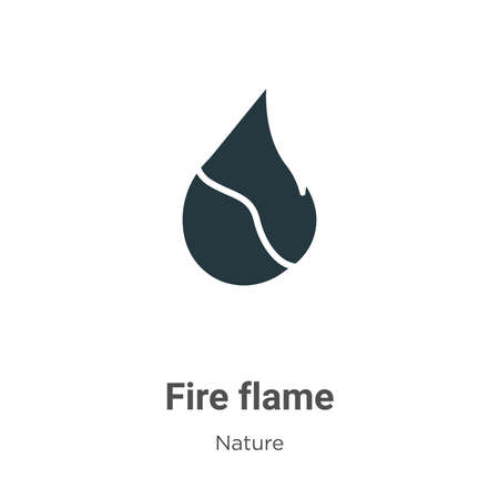 Fire flame glyph icon vector on white background. Flat vector fire flame icon symbol sign from modern nature collection for mobile concept and web apps design.