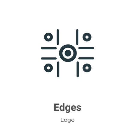 Edges glyph icon vector on white background. Flat vector edges icon symbol sign from modern logo collection for mobile concept and web apps design.