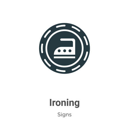Ironing glyph icon vector on white background. Flat vector ironing icon symbol sign from modern signs collection for mobile concept and web apps design. Ilustração