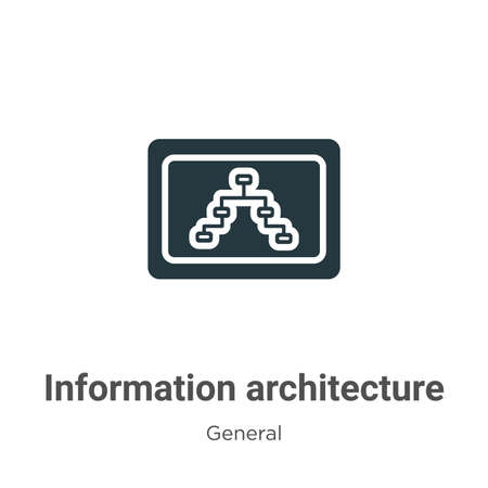 Information architecture glyph icon vector on white background. Flat vector information architecture icon symbol sign from modern general collection for mobile concept and web apps design. Ilustração