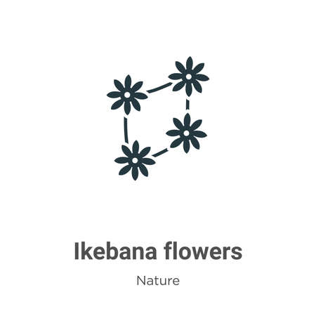 Ikebana flowers glyph icon vector on white background. Flat vector ikebana flowers icon symbol sign from modern nature collection for mobile concept and web apps design. Ilustração