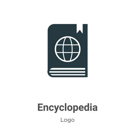 Encyclopedia glyph icon vector on white background. Flat vector encyclopedia icon symbol sign from modern logo collection for mobile concept and web apps design.