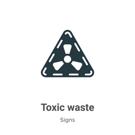 Toxic waste glyph icon vector on white background. Flat vector toxic waste icon symbol sign from modern signs collection for mobile concept and web apps design.