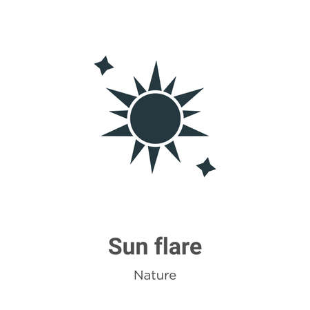 Sun flare glyph icon vector on white background. Flat vector sun flare icon symbol sign from modern nature collection for mobile concept and web apps design. Ilustração