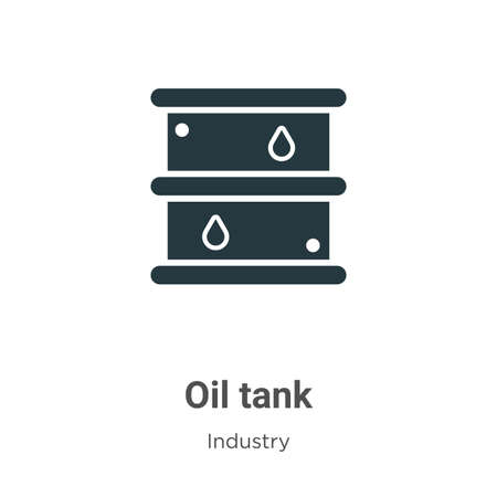 Oil tank glyph icon vector on white background. Flat vector oil tank icon symbol sign from modern industry collection for mobile concept and web apps design.