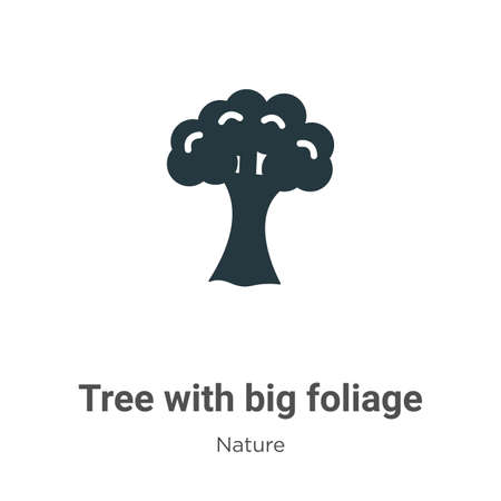 Tree with big foliage glyph icon vector on white background. Flat vector tree with big foliage icon symbol sign from modern nature collection for mobile concept and web apps design.
