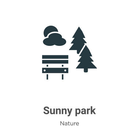 Sunny park glyph icon vector on white background. Flat vector sunny park icon symbol sign from modern nature collection for mobile concept and web apps design.