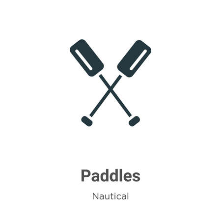 Paddles glyph icon vector on white background. Flat vector paddles icon symbol sign from modern nautical collection for mobile concept and web apps design.