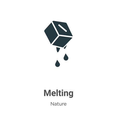 Melting glyph icon vector on white background. Flat vector melting icon symbol sign from modern nature collection for mobile concept and web apps design. Ilustração