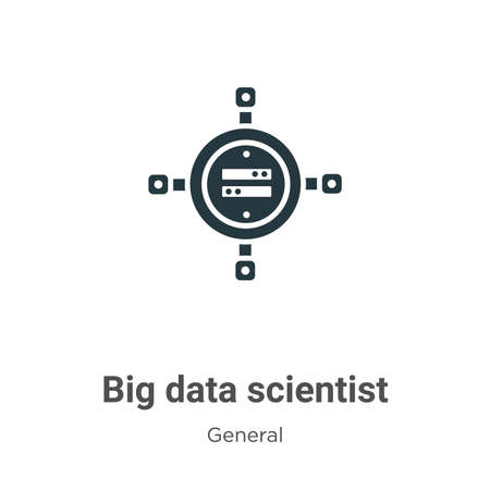 Big data scientist glyph icon vector on white background. Flat vector big data scientist icon symbol sign from modern general collection for mobile concept and web apps design.