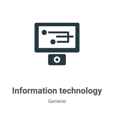 Information technology glyph icon vector on white background. Flat vector information technology icon symbol sign from modern general collection for mobile concept and web apps design.