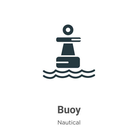 Buoy glyph icon vector on white background. Flat vector buoy icon symbol sign from modern nautical collection for mobile concept and web apps design.