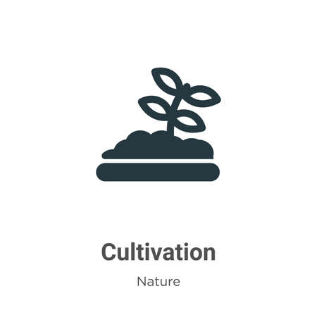 Cultivation glyph icon vector on white background. Flat vector cultivation icon symbol sign from modern nature collection for mobile concept and web apps design.