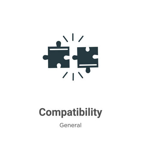 Compatibility glyph icon vector on white background. Flat vector compatibility icon symbol sign from modern general collection for mobile concept and web apps design.