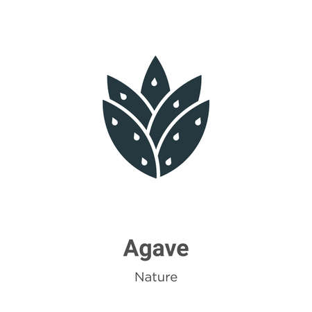 Agave glyph icon vector on white background. Flat vector agave icon symbol sign from modern nature collection for mobile concept and web apps design.