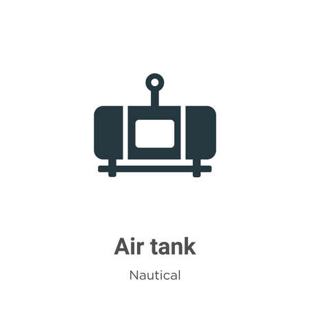 Air tank glyph icon vector on white background. Flat vector air tank icon symbol sign from modern nautical collection for mobile concept and web apps design. Ilustração