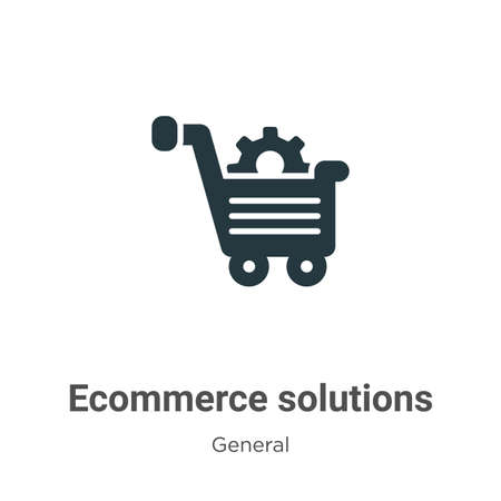 Ecommerce solutions glyph icon vector on white background. Flat vector ecommerce solutions icon symbol sign from modern general collection for mobile concept and web apps design.