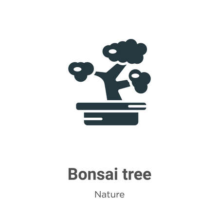 Bonsai tree glyph icon vector on white background. Flat vector bonsai tree icon symbol sign from modern nature collection for mobile concept and web apps design.