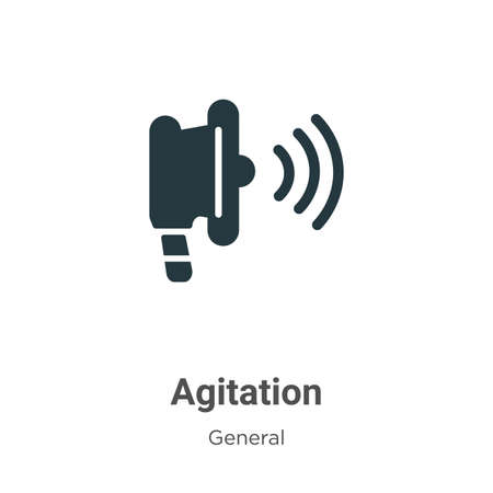 Agitation glyph icon vector on white background. Flat vector agitation icon symbol sign from modern general collection for mobile concept and web apps design.