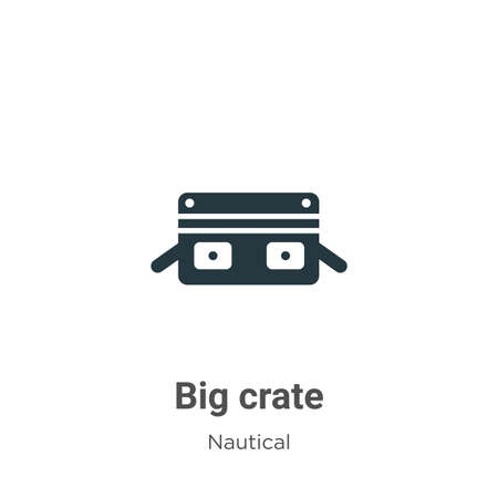 Big crate glyph icon vector on white background. Flat vector big crate icon symbol sign from modern nautical collection for mobile concept and web apps design.
