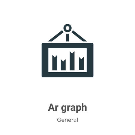 Ar graph glyph icon vector on white background. Flat vector ar graph icon symbol sign from modern general collection for mobile concept and web apps design.