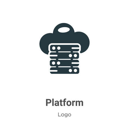 Platform glyph icon vector on white background. Flat vector platform icon symbol sign from modern logo collection for mobile concept and web apps design.