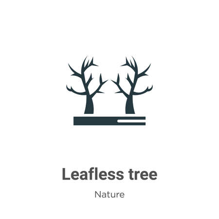 Leafless tree glyph icon vector on white background. Flat vector leafless tree icon symbol sign from modern nature collection for mobile concept and web apps design.