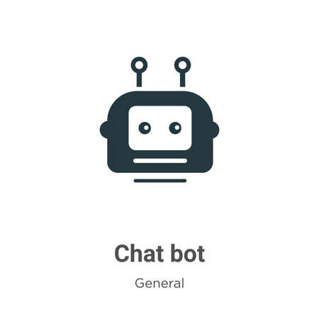 Chat bot glyph icon vector on white background. Flat vector chat bot icon symbol sign from modern general collection for mobile concept and web apps design.