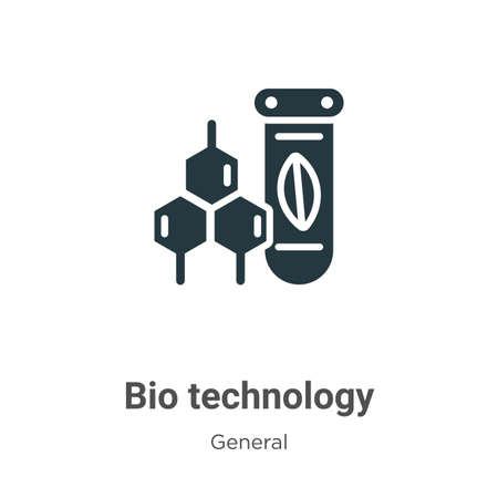 Bio technology glyph icon vector on white background. Flat vector bio technology icon symbol sign from modern general collection for mobile concept and web apps design.