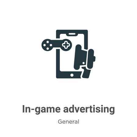 In-game advertising glyph icon vector on white background. Flat vector in-game advertising icon symbol sign from modern general collection for mobile concept and web apps design.