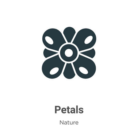 Petals glyph icon vector on white background. Flat vector petals icon symbol sign from modern nature collection for mobile concept and web apps design.