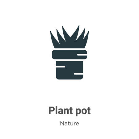 Plant pot glyph icon vector on white background. Flat vector plant pot icon symbol sign from modern nature collection for mobile concept and web apps design.