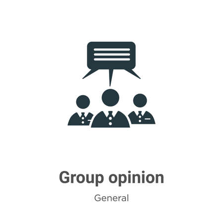 Group opinion glyph icon vector on white background. Flat vector group opinion icon symbol sign from modern general collection for mobile concept and web apps design.